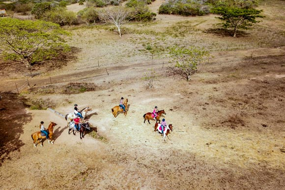 Horse ridding in Koumac, New Caledonia